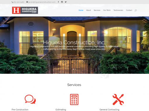 Higuera Construction Website