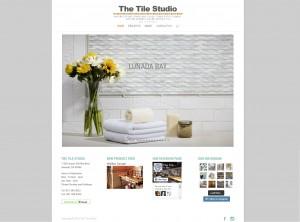 The Tile Studio Website Screenshot