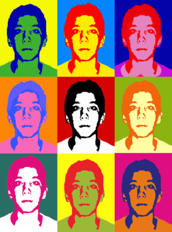 Warhol-Inspired Poster