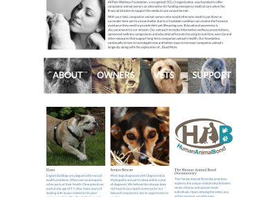 All Pets Wellness Foundation Website