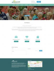 Access Care Adult Day and Healthcare Center Website Screenshot