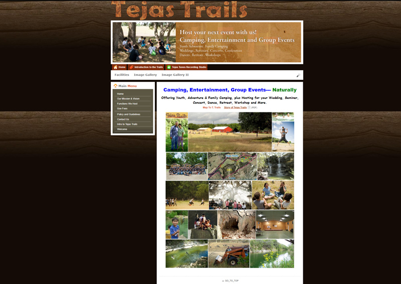 Happy Trails Website Screenshot